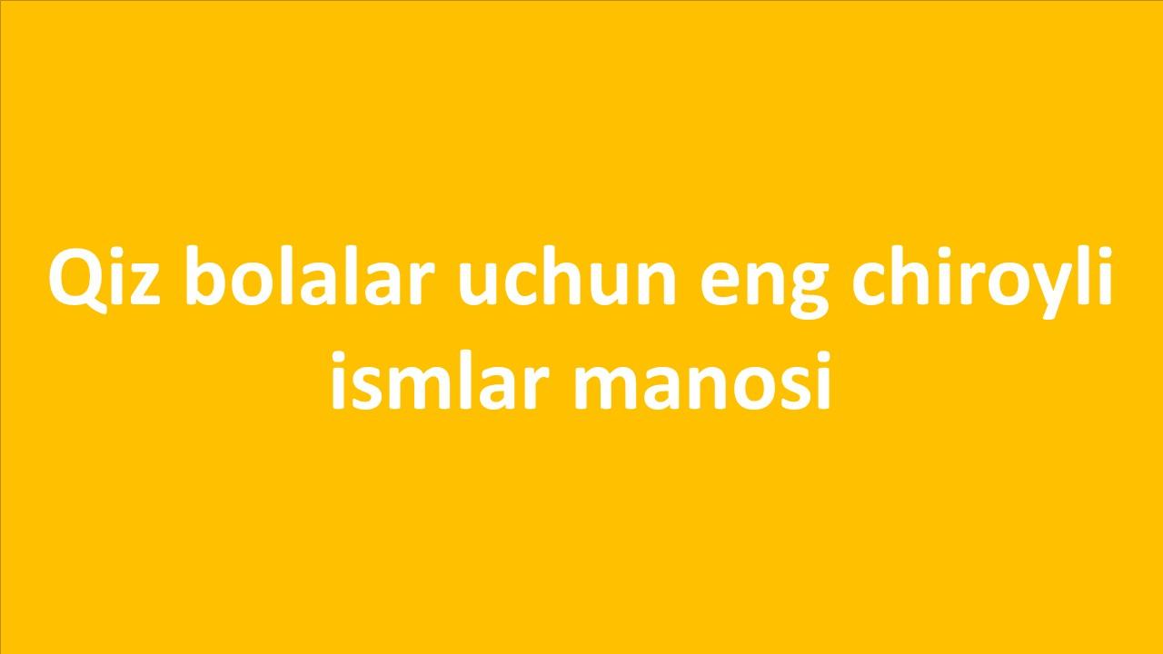 Qizlar ismi islomiy @islomiy_statuslar_salixem_oltin